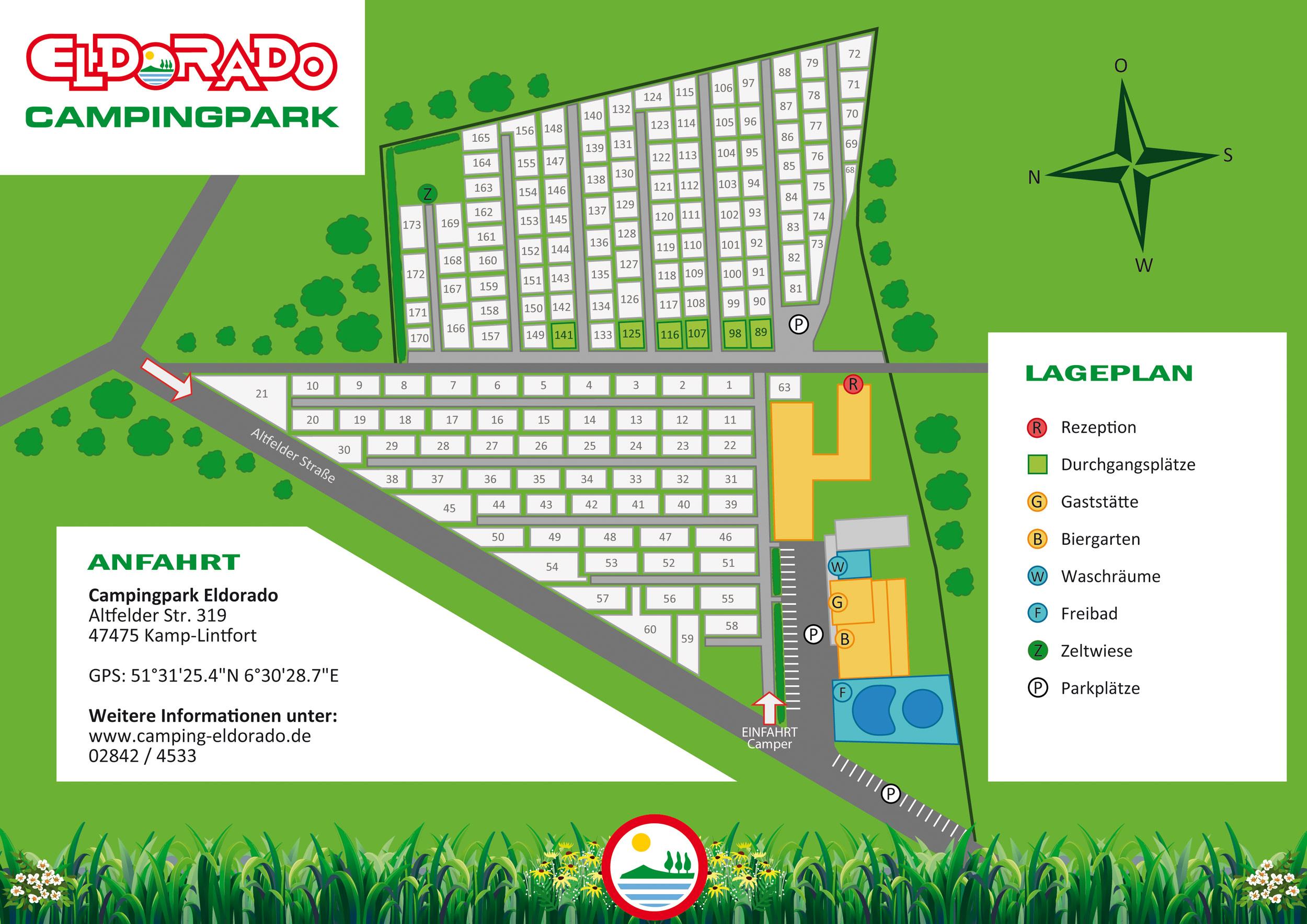 Eldorado-Campingplatz-Kamp-Lintfort-Lageplan